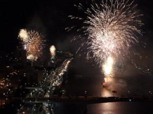 Fireworks on the Brisbane River