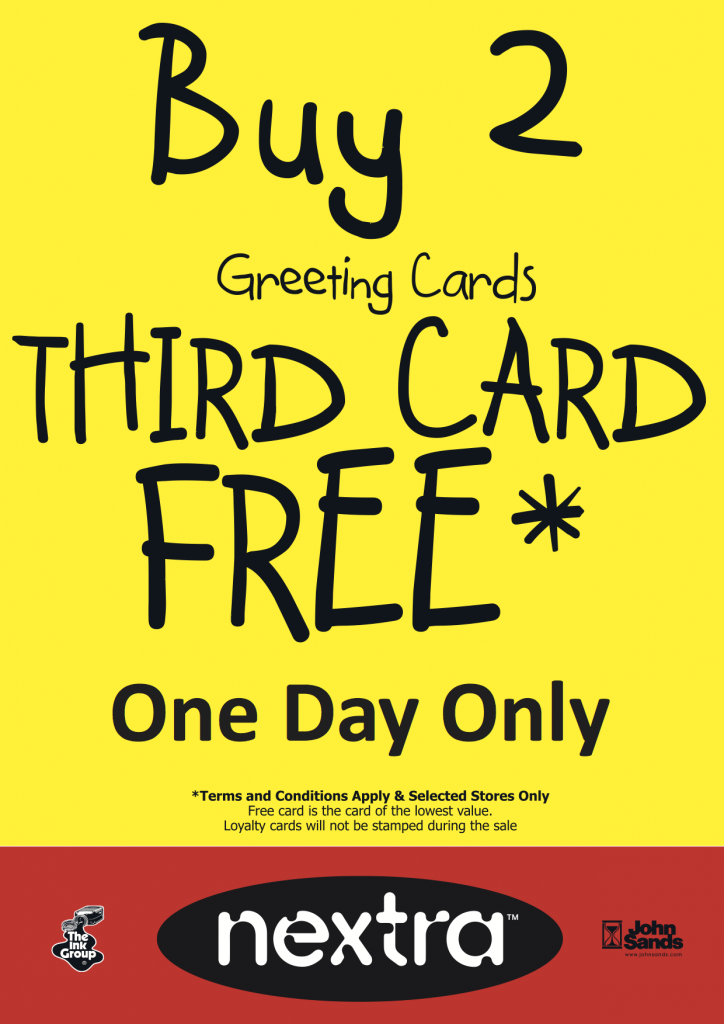 Buy 2, get third card FREE!