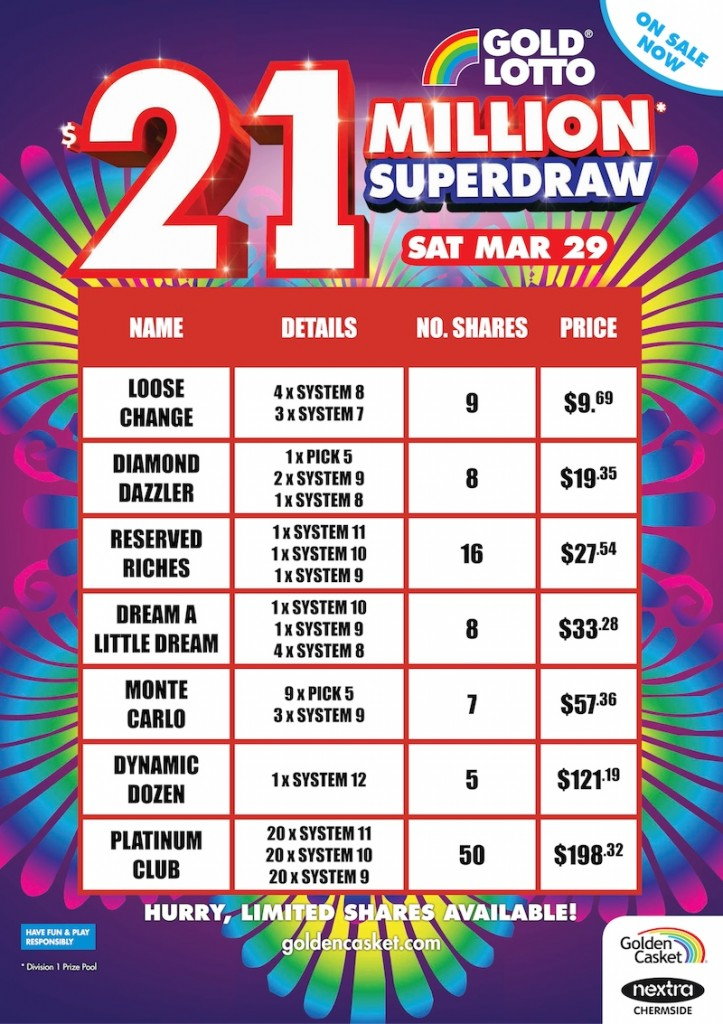 March Superdraw Syndicates